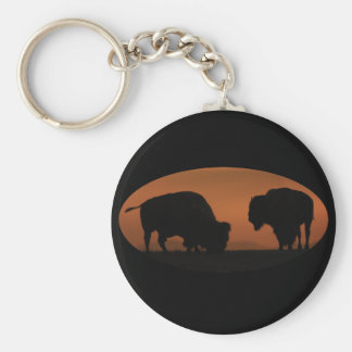Bison Sunset Key Chain