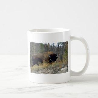 Bison, Upper Geyser Basin, Yellowstone National Pa Basic White Mug