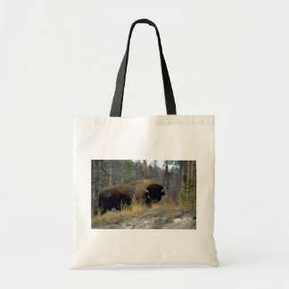 Bison, Upper Geyser Basin, Yellowstone National Pa Budget Tote Bag