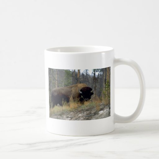 Bison, Upper Geyser Basin, Yellowstone National Pa Coffee Mugs