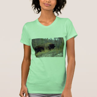 Bison, Upper Geyser Basin, Yellowstone National Pa Tees
