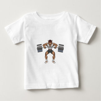 bison weight lifter baby T-Shirt