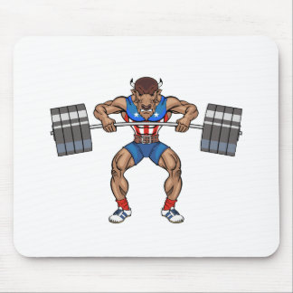 bison weight lifter mouse mat