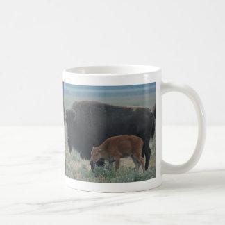 Bison, Yellowstone Scene Coffee Mug