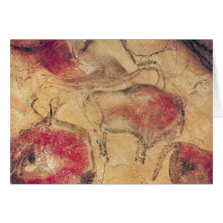 Bisons, from the Caves at Altamira, c.15000 BC Greeting Card