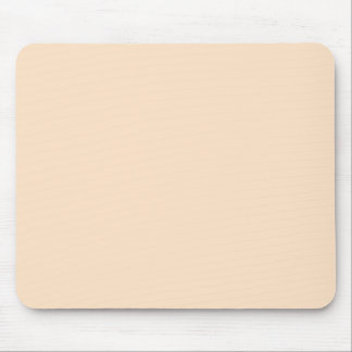 Bisque Beige Cream Solid Trend Color Background Mouse Pad