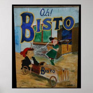 Bisto vintage poster