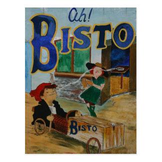 Bisto vintage poster postcard
