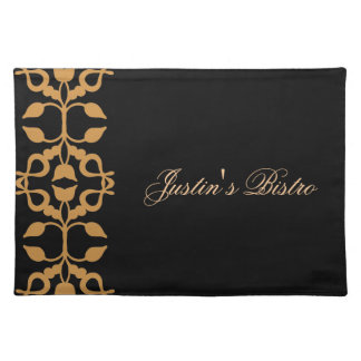 Bistro Gold Scroll Placemats