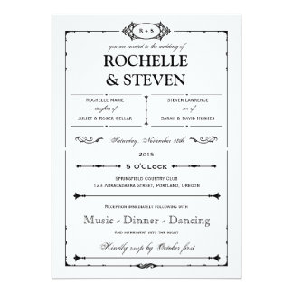 Bistro  Wedding Invitation