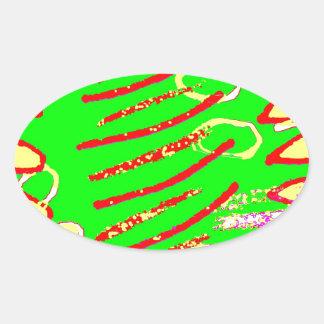 Bit Given 9 Oval Sticker