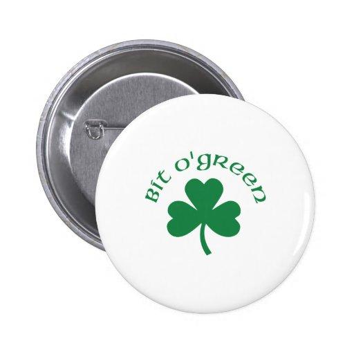 Bit O' Green Saint Patricks Button