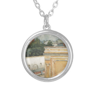 Bit of Moscow by Vasily Surikov Round Pendant Necklace
