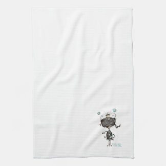 """""""Bit Tied Up""""- Quirky Illustrated Tea Towel"""