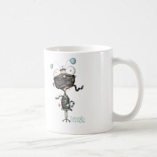 Bit Tied Up - Quirky Teal Design Mug