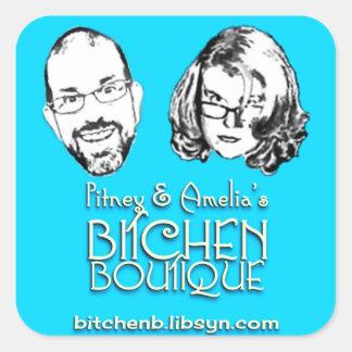 Bitchen Boutique Logo Square Stickers (6)