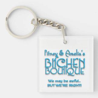 Bitchen Boutique White Keychain