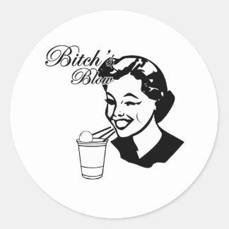Bitchs Blow Classic Round Sticker