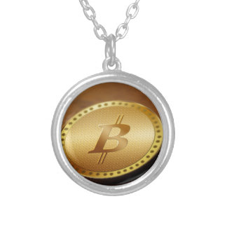 Bitcoin 2 silver plated necklace