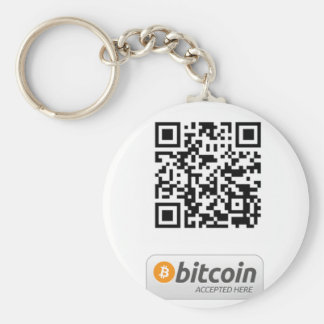 Bitcoin Accepted Here Key Ring