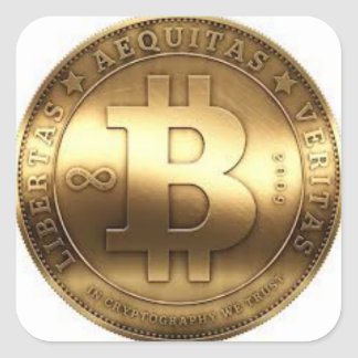 Bitcoin adhesives square sticker