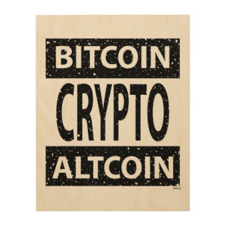 Bitcoin Altcoin Crypto Wood Wall Art