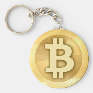 Bitcoin Basic Button Keychain