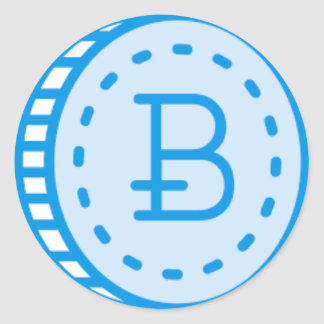 Bitcoin Bluez Classic Round Sticker