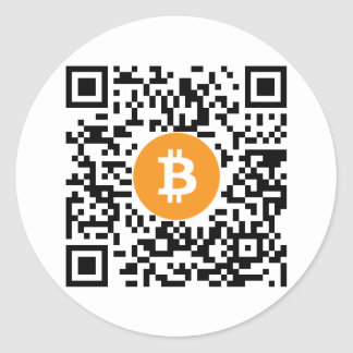 Bitcoin (BTC) Wallet QR Code Sticker - Round