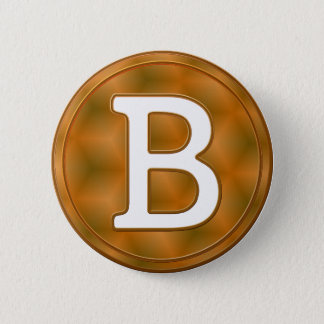 Bitcoin button. 6 cm round badge