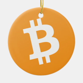 Bitcoin Circle Hanging Ornament