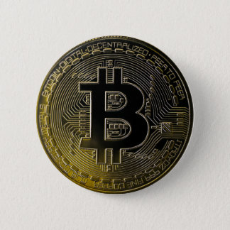 Bitcoin Coins 6 Cm Round Badge