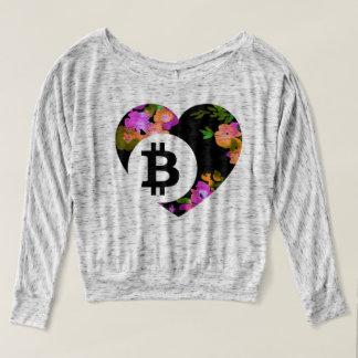 BITCOIN FLORAL HEART-CryptoNook- T-Shirt