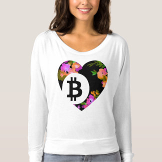 BITCOIN/FLORAL HEART-Women's T-Shirt