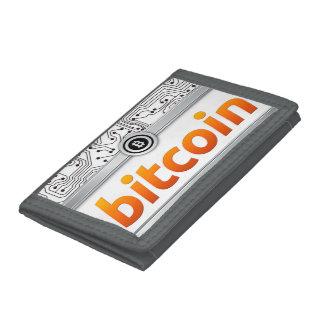 Bitcoin graphics tri-fold wallet