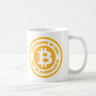 Bitcoin In Cryptography We Trust Coffee Mug