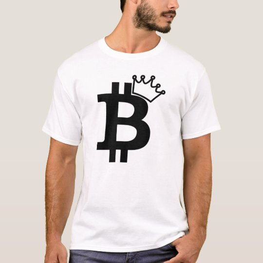 Bitcoin King Black Logo Design T-Shirt