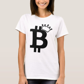 Bitcoin King Black Logo Design T-Shirt
