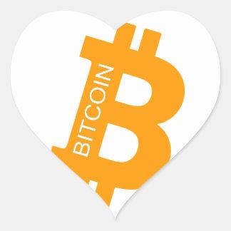 Bitcoin klistermärke heart sticker