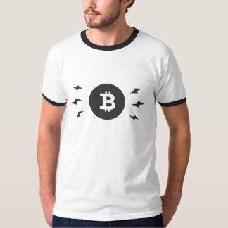 Bitcoin lighting ringer t-shirt