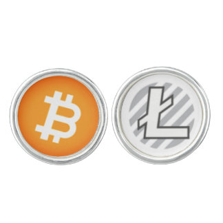 Bitcoin Litecoin Cryptocurrency Cufflinks
