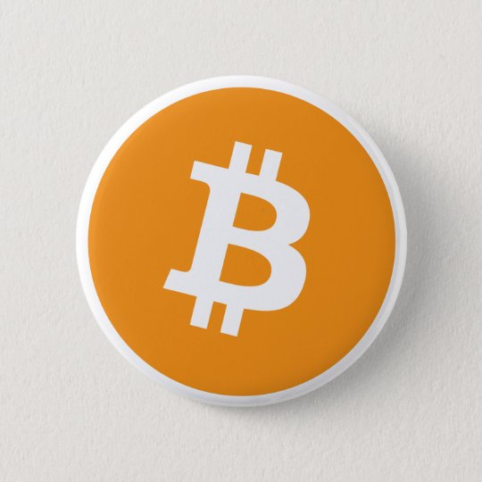 Bitcoin logo 6 cm round badge