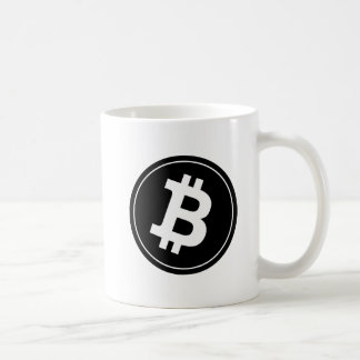 Bitcoin logo coffee mug