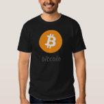 Bitcoin Logo mit Schrift T Shirts