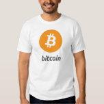 Bitcoin Logo mit Schrift Tees