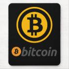 Bitcoin logo mouse mat