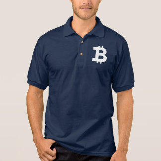 Bitcoin logo polo shirt