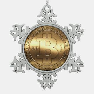 Bitcoin Logo Symbol Gold Crypto Christmas Ornament