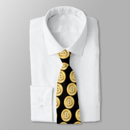 Bitcoin logo tie