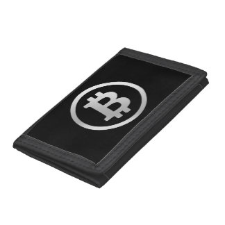 Bitcoin logo tri-fold wallets